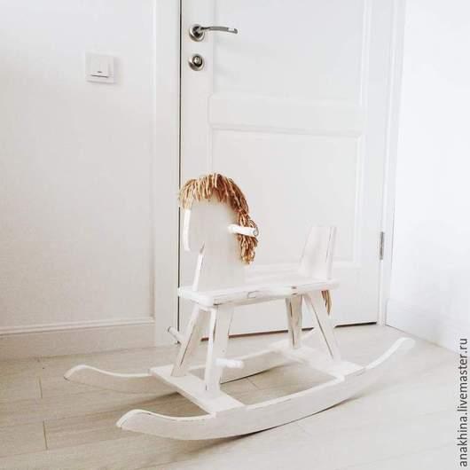 Игрушки животные, ручной работы. Ярмарка Мастеров - ручная работа. Купить Деревянная лошадка-качалка для детей до 5 лет. Handmade.