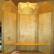 Полки ручной работы. Ярмарка Мастеров - ручная работа Иконостас угловой трехстворчатый. Handmade.