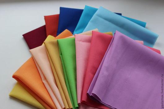 Шитье ручной работы. Ярмарка Мастеров - ручная работа. Купить набор лоскутов 25х25 13 цветов. Handmade. Набор ткани