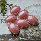 Материалы для творчества handmade. Livemaster - original item Pearl rhinestones Salmon 13h18 mm oval. Handmade.