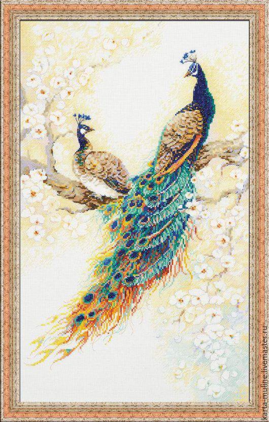 1). RIOLIS PREMIUM «Персидский сад» Нитки: мулине Anchor Размер: 30*50 см Канва: 14 Aida Zweigart белая Цена - 2150 руб