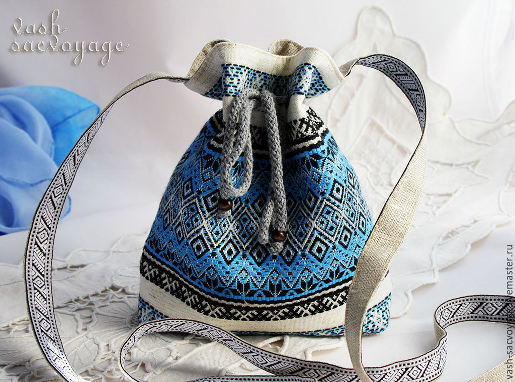 Slavic handbag Rechenka on a long strap, Classic Bag, St. Petersburg,  Фото №1