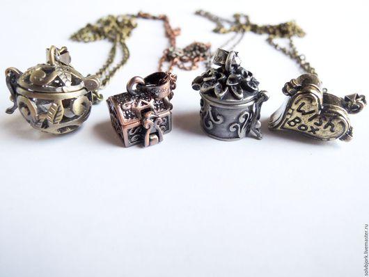 Кулоны, подвески ручной работы. Ярмарка Мастеров - ручная работа. Купить Кулоны (медальоны) «Секретики». Handmade. Темно-серый, талисман