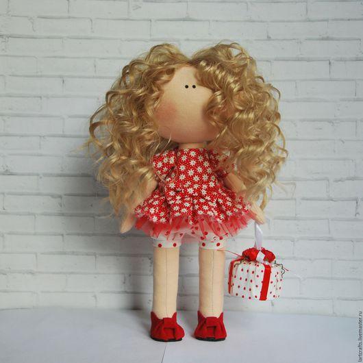 Коллекционные куклы ручной работы. Ярмарка Мастеров - ручная работа. Купить Маруся. Handmade. Ярко-красный, кудряшка, Декор, на заказ