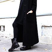 Одежда ручной работы. Ярмарка Мастеров - ручная работа Пальто Black Monk (R00035). Handmade.
