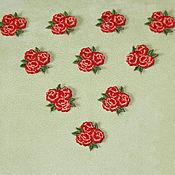 Материалы для творчества handmade. Livemaster - original item Embroidery, appliques for scrapbooking and clothing rose. Handmade.