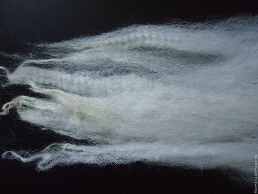 Валяние ручной работы. Ярмарка Мастеров - ручная работа. Купить Кудри кросс Бонд мытые, 50 гр.. Handmade. Белый