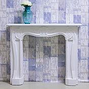 Для дома и интерьера ручной работы. Ярмарка Мастеров - ручная работа Камин декоративный (каминный портал, фальш камин) - белый 1. Handmade.