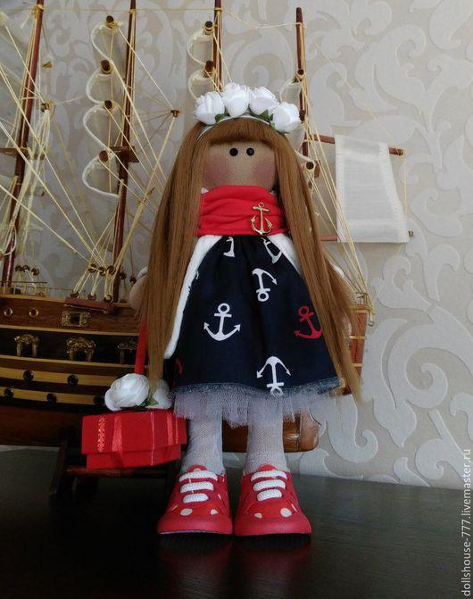 Коллекционные куклы ручной работы. Ярмарка Мастеров - ручная работа. Купить Интерьерная кукла в морском стиле. Handmade. Комбинированный, сюрприз