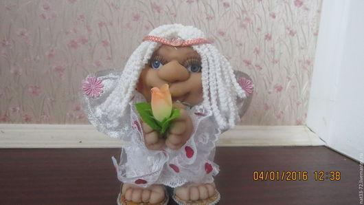 Коллекционные куклы ручной работы. Ярмарка Мастеров - ручная работа. Купить Ангелочек. Handmade. Комбинированный, ангелочек, интерьерная кукла, синтепон