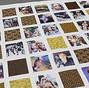 """Подарки к праздникам ручной работы. Ярмарка Мастеров - ручная работа Покрывало с фотографиями """"Хороший друг"""" № 432. Handmade."""