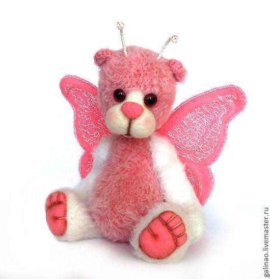 Мишки Тедди ручной работы. Ярмарка Мастеров - ручная работа. Купить Мишка-бабочка Ника. Handmade. Розовый, мишка тедди