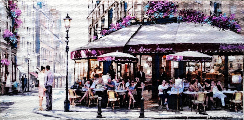 "Картина маслом""Кафе в Париже"", Картины, Таганрог, Фото №1"