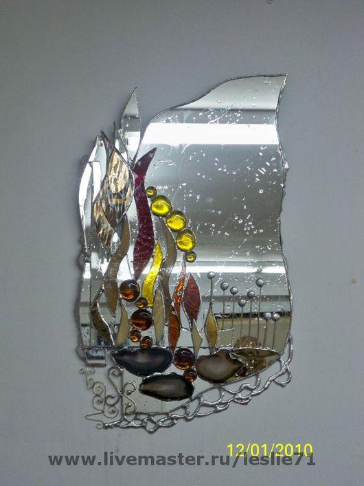 """Зеркала ручной работы. Ярмарка Мастеров - ручная работа. Купить Зеркало """"Настроение"""". Handmade. Стекло витражное, зеркало, стекло"""