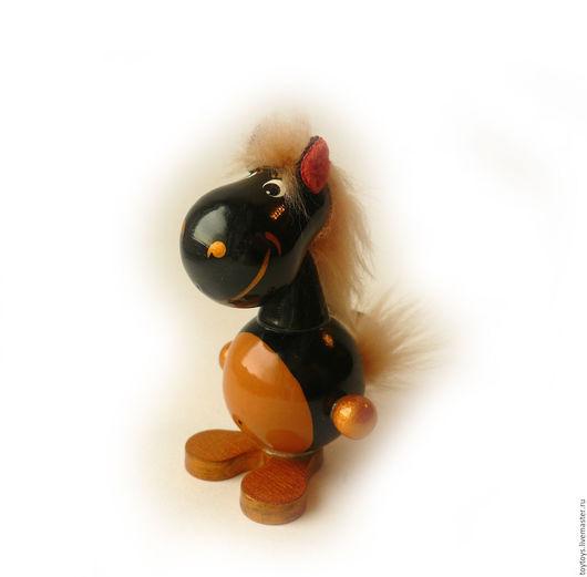 """Игрушки животные, ручной работы. Ярмарка Мастеров - ручная работа. Купить Игрушка """"Конь"""" на пружинке. Handmade. Игрушка для детей, игрушка"""