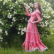 """Одежда ручной работы. Ярмарка Мастеров - ручная работа Длинное платье  """"Кантри"""". Handmade."""
