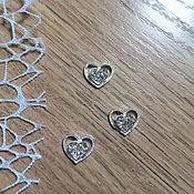 Материалы для творчества handmade. Livemaster - original item !Scrapbooking. Decor brooch with rhinestone, Heart shining. Handmade.