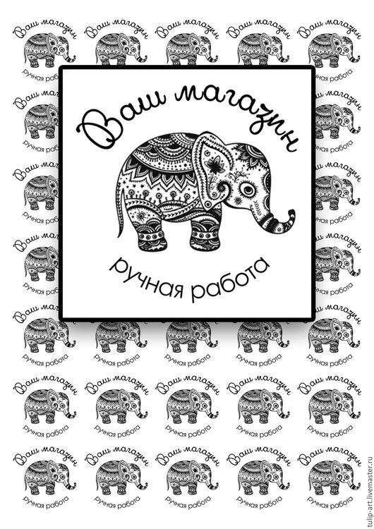 Упаковка ручной работы. Ярмарка Мастеров - ручная работа. Купить Тканевые бирки 35 шт. этикетки  ярлычки  лейблы  нашивки с логотипом. Handmade.
