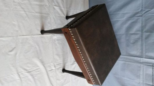Мебель ручной работы. Ярмарка Мастеров - ручная работа. Купить пуф для прихожей. Handmade. Коричневый, табурет, интерьер, деревянная мебель