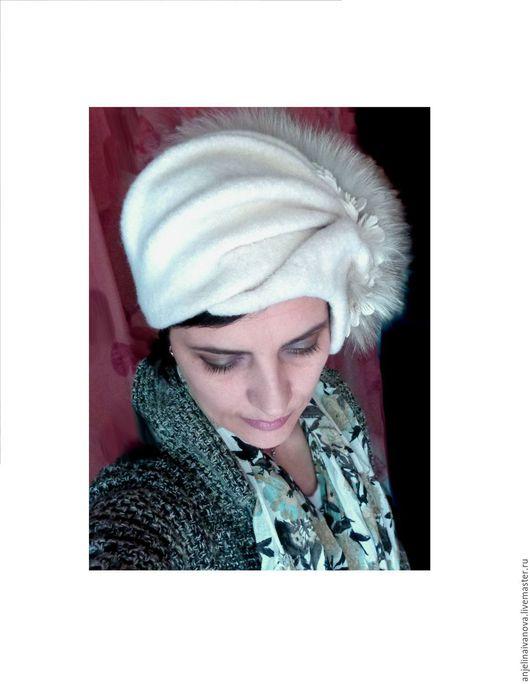 Шляпы ручной работы. Ярмарка Мастеров - ручная работа. Купить Белые сны;шляпка шапочка мягкая. Handmade. Шляпка дамская