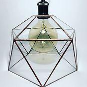 Для дома и интерьера handmade. Livemaster - original item Loft lamp Icosahedron (copper gloss). Handmade.