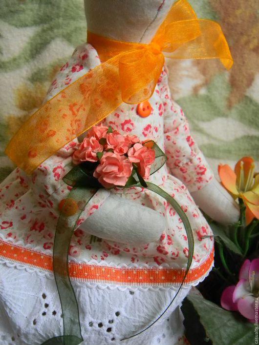 Куклы Тильды ручной работы. Ярмарка Мастеров - ручная работа. Купить Зайка Стефани. Handmade. Зайка, красивое платье, кружево