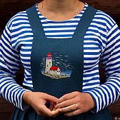"""Одежда ручной работы. Ярмарка Мастеров - ручная работа Юбка на бретелях """"Свет маяка"""". Handmade."""