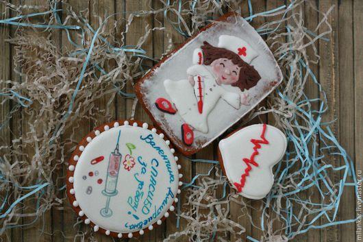 Подарок врачу, медику - имбирные пряники мастерской `Прянички для любименьких`