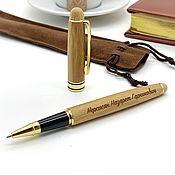 Канцелярские товары handmade. Livemaster - original item Wooden handle with engraving in the case. Handmade.