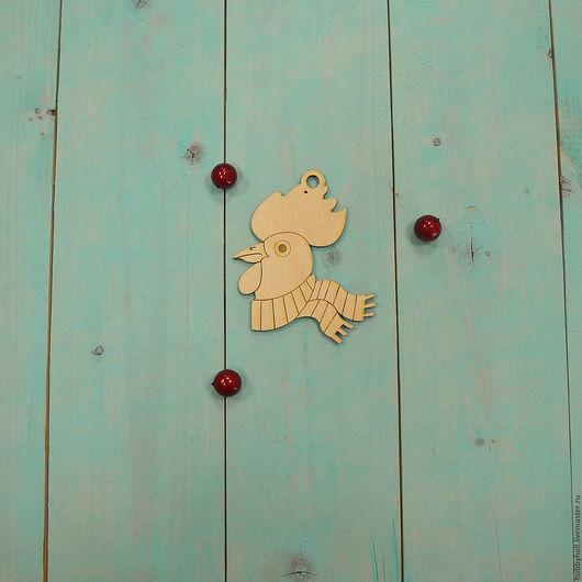 Декупаж и роспись ручной работы. Ярмарка Мастеров - ручная работа. Купить Петух, ёлочная игрушка. Handmade. Бежевый, петухи, петух