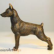 Для дома и интерьера ручной работы. Ярмарка Мастеров - ручная работа ЦВЕРГПИНЧЕР - статуэтка (оловянная миниатюрная фигурка собаки. Handmade.