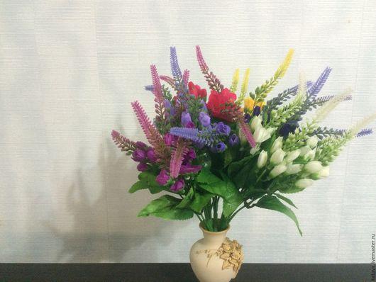Искусственные растения ручной работы. Ярмарка Мастеров - ручная работа. Купить Лаванда с мелкими розочками. Handmade. Комбинированный, цветочная композиция