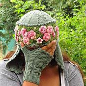 Вязаные украшения для шапки своими руками