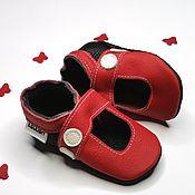Работы для детей, handmade. Livemaster - original item Red Baby Shoes,Leather Baby Shoes, Baby sandals,Ebooba. Handmade.