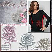 Материалы для творчества handmade. Livemaster - original item The love of roses. 6 element. Design for machine embroidery.. Handmade.