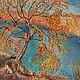 Пейзаж ручной работы. Лето Осень Зима. Мандариновый Кот (mandarincat). Интернет-магазин Ярмарка Мастеров. Лето, пруд, трава