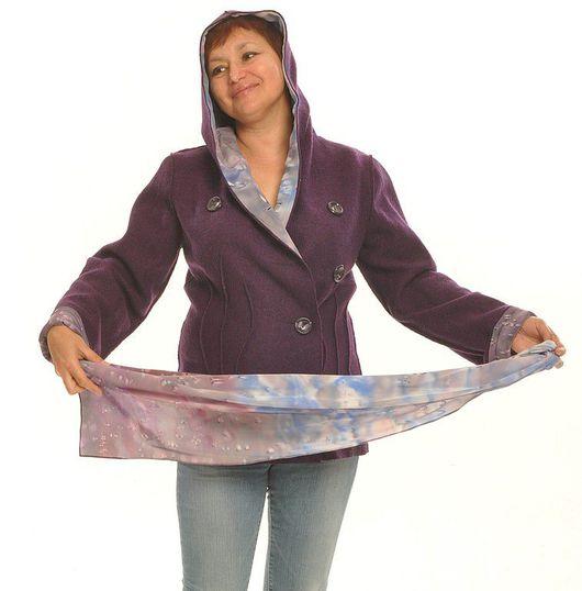 """Пиджаки, жакеты ручной работы. Ярмарка Мастеров - ручная работа. Купить Жакет """"Виола"""". Handmade. Шерстяной жакет, двухсторонняя куртка"""