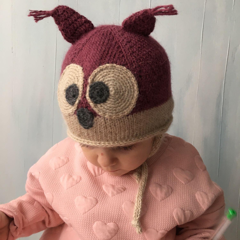 Детская шапочка Совушка