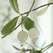 Украшения handmade. Livemaster - original item Earrings Lanterns. Color asymmetry in equal form. Silver quartz. Handmade.