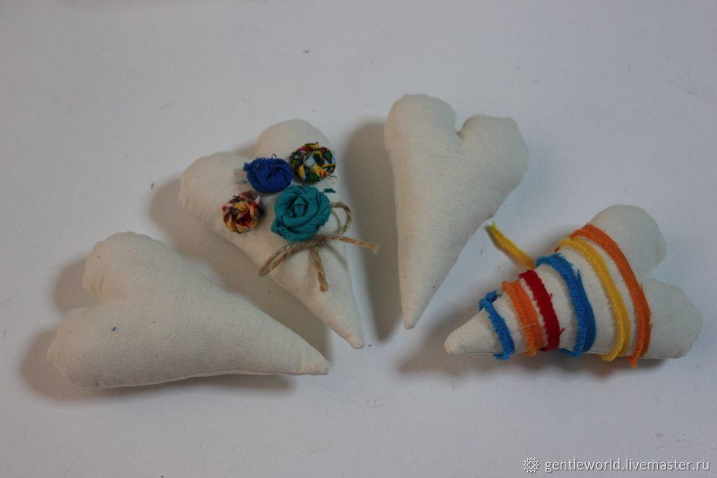 Развивающие игрушки ручной работы. Ярмарка Мастеров - ручная работа. Купить Сердце текстильное, сердце для росписи, декора. Handmade. Заготовка