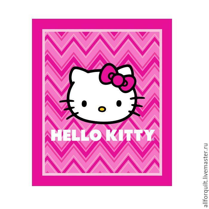 Панель Hello Kitty, 90 х110 см, Ткани, Москва, Фото №1
