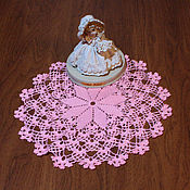 Декоративные салфетки ручной работы. Ярмарка Мастеров - ручная работа Салфетка крючком Розовые лепестки. Handmade.