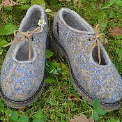 """Обувь ручной работы. Ярмарка Мастеров - ручная работа Туфли валяные """"Пейсли"""". Handmade."""