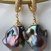Украшения ручной работы. Ярмарка Мастеров - ручная работа Серьги Luxury Baroque pearls. Handmade.