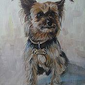 Картины и панно handmade. Livemaster - original item Paintings: oil on canvas Portrait of Charlie. Handmade.