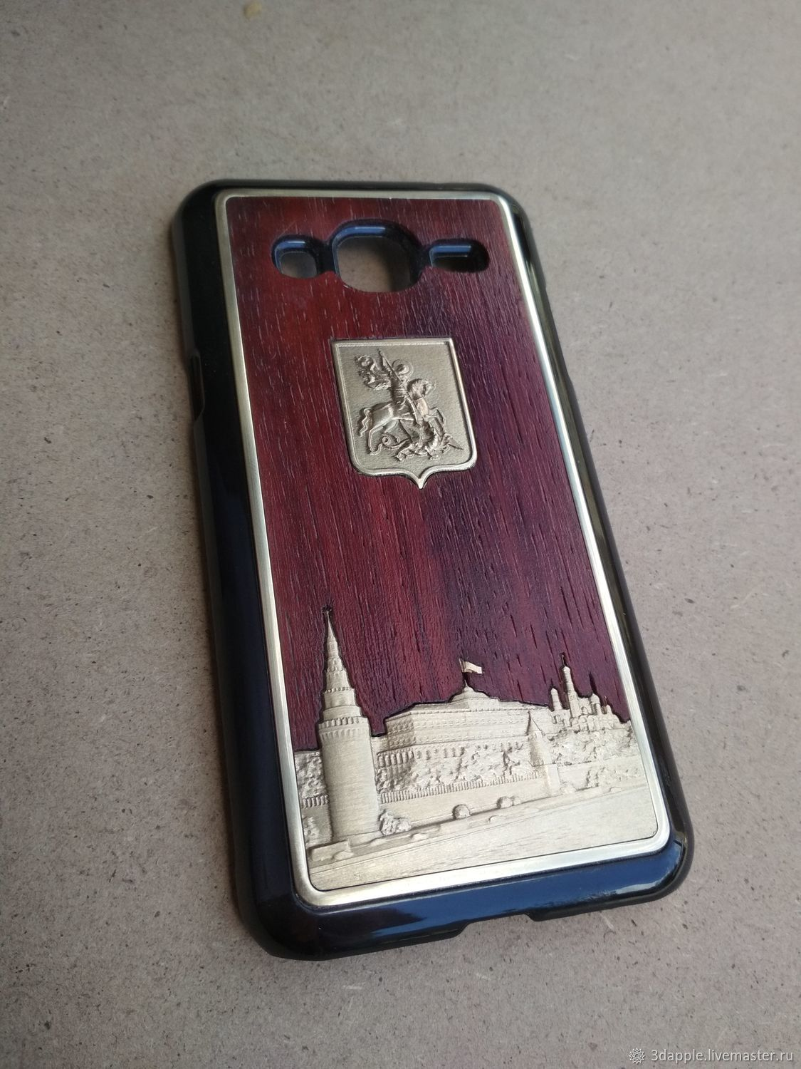CASE: Moscow Kremlin protective bumper for phone (wenge, bronze), Case, Moscow,  Фото №1
