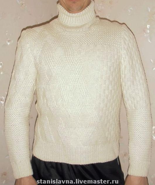 """Для мужчин, ручной работы. Ярмарка Мастеров - ручная работа. Купить Мужской свитер """"Идеал"""". Handmade. Вязаный свитер"""