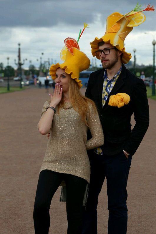 Шляпы ручной работы. Ярмарка Мастеров - ручная работа. Купить Карнавальная шляпа Лимонад. Handmade. Карнавал цвета, карнавальная шляпа