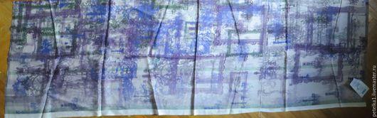 Шитье ручной работы. Ярмарка Мастеров - ручная работа. Купить лОскут шелка  ППП №934Ш 10106. Handmade. Павловопосадский платок