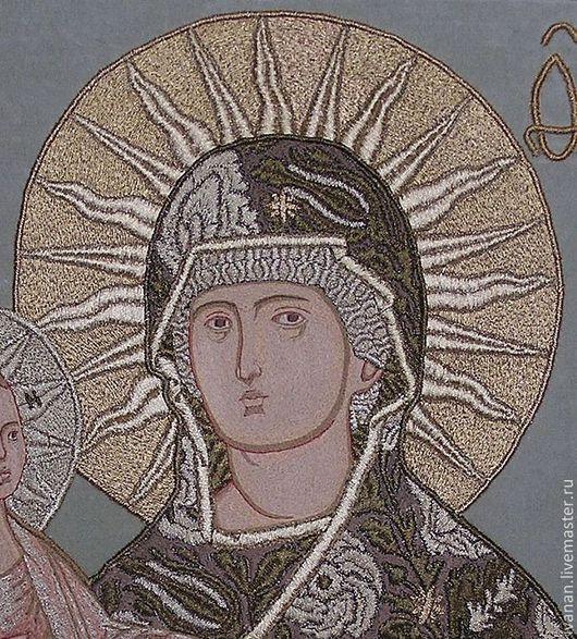 """Иконы ручной работы. Ярмарка Мастеров - ручная работа. Купить Вышитая икона """"Богородица Троеручица"""". Handmade. Богородица, вышитая икона"""